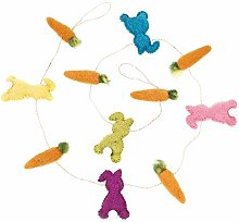 Handmade Carrot and Bunny Garland Easter Felt Decoration