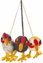 Handmade Cheeky Chickens (Bag of 3) Hanging Easter