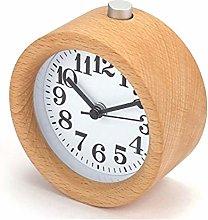 Handmade Classic Small Log Mute Desk Alarm Clock