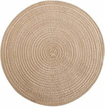 Handmade Cotton Line Round Table Mats Hand-made