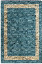 Handmade Rug Jute Blue 120x180 cm - Blue