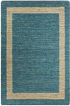 Handmade Rug Jute Blue 120x180 cm VD02653 - Hommoo