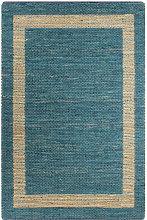 Handmade Rug Jute Blue 120x180 cm1251-Serial number