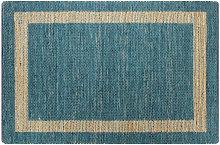 Handmade Rug Jute Blue 120x180 cm