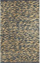 Handmade Rug Jute Blue and Natural 120x180 cm