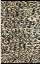 Handmade Rug Jute Blue and Natural 160x230 cm -