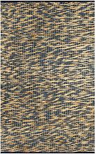Handmade Rug Jute Blue and Natural 80x160 cm -
