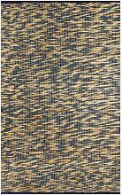 Handmade Rug Jute Blue and Natural 80x160 cm
