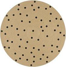 Handmade Rug Jute with Print Polka Dot 150 cm -