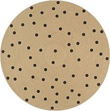 Handmade Rug Jute with Print Polka Dot 150