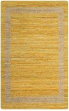 Handmade Rug Jute Yellow 80x160 cm - Yellow -