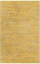Handmade Rug Jute Yellow and Natural 160x230 cm