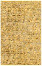 Handmade Rug Jute Yellow and Natural 160x230 cm -