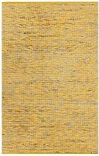 Handmade Rug Jute Yellow and Natural 80x160 cm