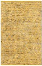 Handmade Rug Jute Yellow and Natural 80x160 cm -