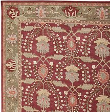 Handmade Traditional Red Agra Oriental Style 100%