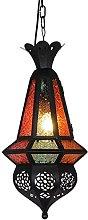 Handmade Turkish Moroccan Glass Pendant Lamp -