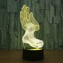 Hands Feet Model Acrylic Abajur 3D LED Night Light