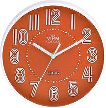 Hangah 21cm Wall Clock Mercury Row Colour: Orange