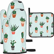 Hangdachang Cacti And Succulents Oven Gloves