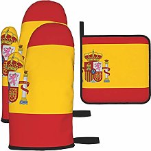 Hangdachang Flag Of Spain Oven Gloves Microwave