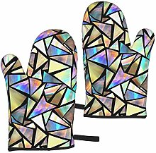 Hangdachang Iridescent Triangles Kitchen Oven