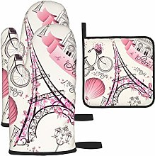Hangdachang Romantic Travel In Paris Oven Gloves