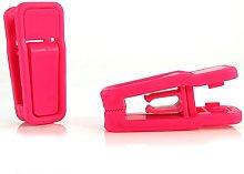 HANGERWORLD 12 Pink Plastic Removable Spring Clips
