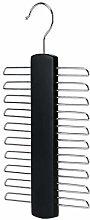 HANGERWORLD 20 Bar Black Wooden Tie Hanger for