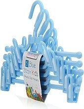 Hangerworld 30cm Blue Plastic Coat Hangers with