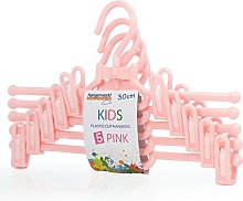 Hangerworld 30cm Pink Plastic Coat Hangers with
