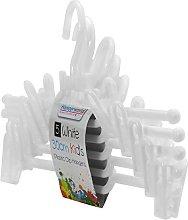 Hangerworld 30cm White Plastic Coat Hangers with