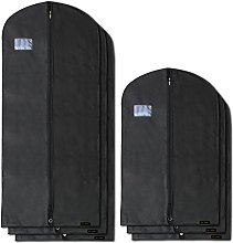 HANGERWORLD 6 Black Breathable Garment Covers with