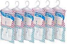 HANGERWORLD 6 Dehumidifier Hanging Wardrobe Bags