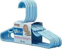 Hangerworld Blue Plastic 29cm Coat Hangers with