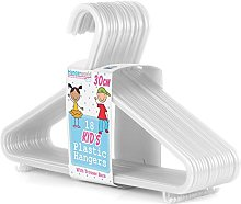 HANGERWORLD Pack of 54 Plastic Coat Hanger with