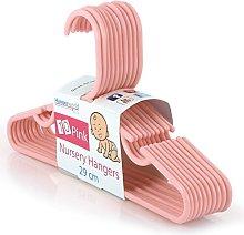 Hangerworld Pink Plastic 29cm Coat Hangers with
