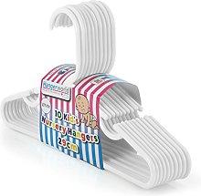 Hangerworld White Plastic 29cm Coat Hangers with