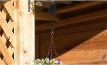 Hanging Basket Pulley with Hook: Three