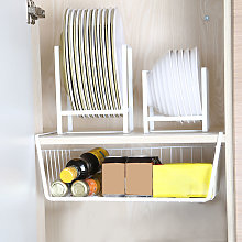 Hanging Basket Under Shelf Hanging Metal Wire