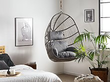 Hanging Chair Grey Rattan without Stand