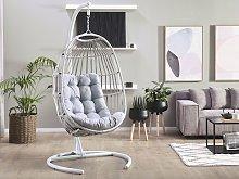 Hanging Chair PE Rattan Light Grey Outdoor Indoor