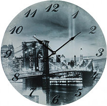 Hanging clock black and white
