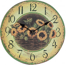 hanging clock sunflowers
