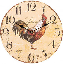 Hanging clock yellow rooster