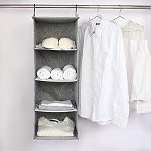 Hanging Closet Organizers 4-Shelf Fabric Closet