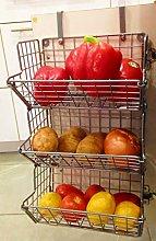 Hanging fruit basket Under sink inside cabinet
