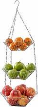 Hanging fruit basket / vegetable basket made of