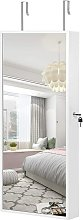 Hanging Jewellery Cabinet, Mirror Armoire with LED