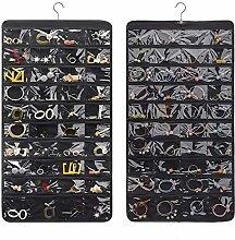 Hanging Jewellery Organiser, 80 Pockets Dual Sided